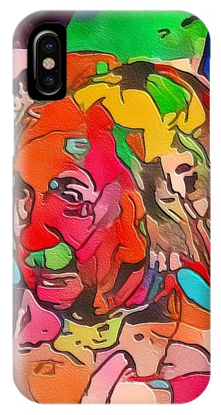 IPhone Case featuring the painting Einstein by Mark Taylor