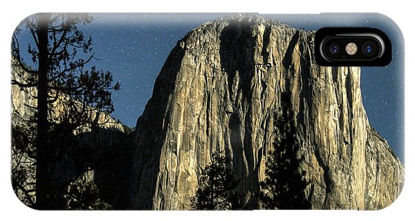 El Capitan By Starlight, Yosemite Valley, Yosemite Np, Ca IPhone Case