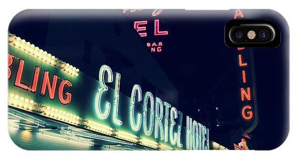 El Cortez Hotel At Night IPhone Case