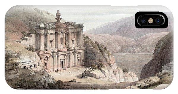 El Deir Petra 1839 IPhone Case