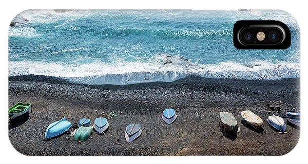 Black Sand iPhone Case - El Golfo by Delphimages Photo Creations