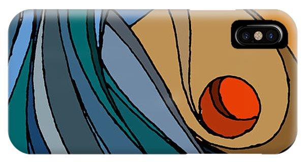 el MariAbelon blue IPhone Case