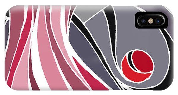 el MariAbelon red IPhone Case