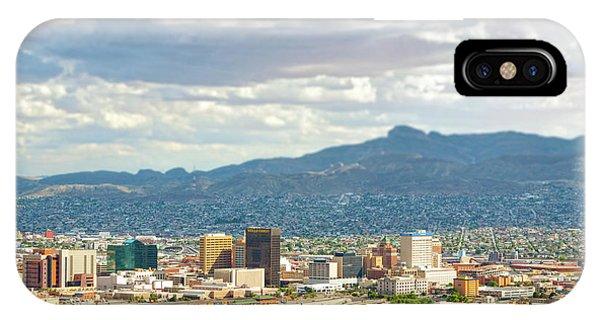El Paso Texas Downtown View IPhone Case