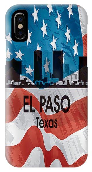 El Paso Tx American Flag Vertical IPhone Case