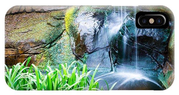 El Paso Zoo Waterfall Long Exposure IPhone Case