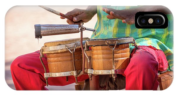 Drum iPhone Case - El Son De Cuba by Delphimages Photo Creations
