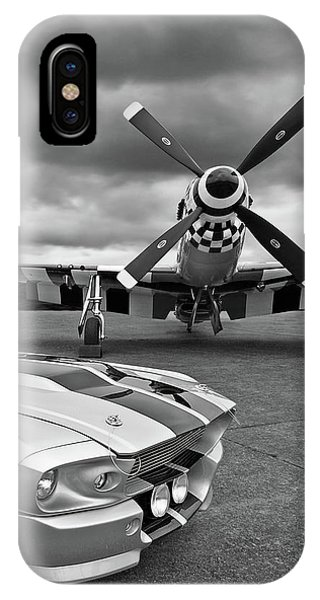 Eleanor Mustang With P51 Black And White IPhone Case