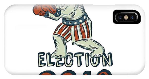 Election iPhone Case - Election 2016 Republican Elephant Boxer Etching by Aloysius Patrimonio