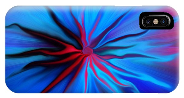 Electric Blue 2 IPhone Case