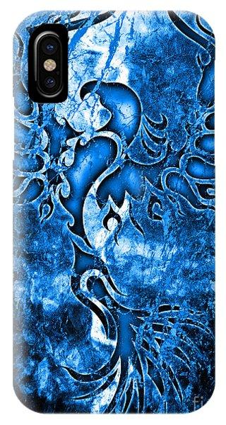 Fire Ball iPhone Case - Electric Blue Phoenix by Robert Ball