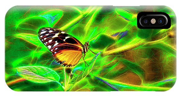 Electric Butterfly IPhone Case