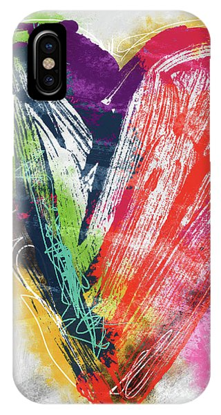Pink iPhone Case - Electric Love- Expressionist Art By Linda Woods by Linda Woods