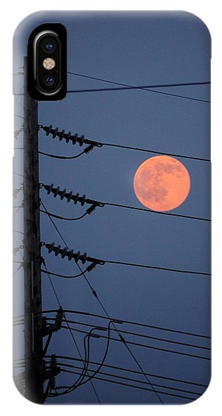 IPhone Case featuring the photograph Electric Moon by Richard Reeve