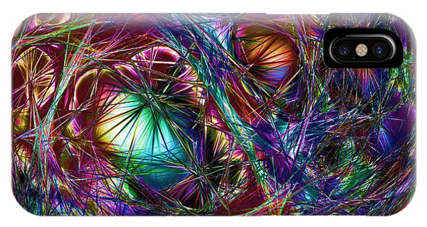 Electric Neon Abstract IPhone Case