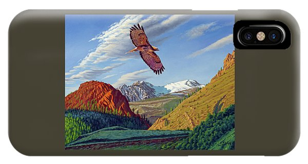 Hawk iPhone Case - Electric Peak With Hawk by Paul Krapf