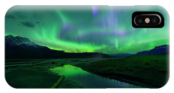 Electric Skies Over Jasper National Park IPhone Case