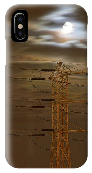 Electric Tower Under Supermoon IPhone Case
