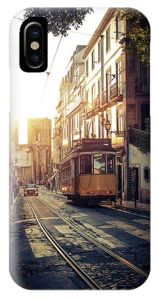 Trolley Car iPhone Case - Electric Tram In Lisbon by Carlos Caetano