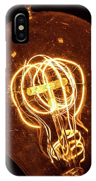 IPhone Case featuring the photograph Electricity Through Tungsten by T Brian Jones