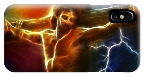Electrifying Jesus Crucifixion IPhone Case