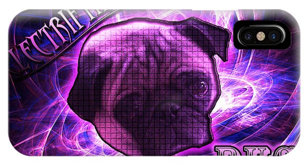 Electrifying Pug IPhone Case
