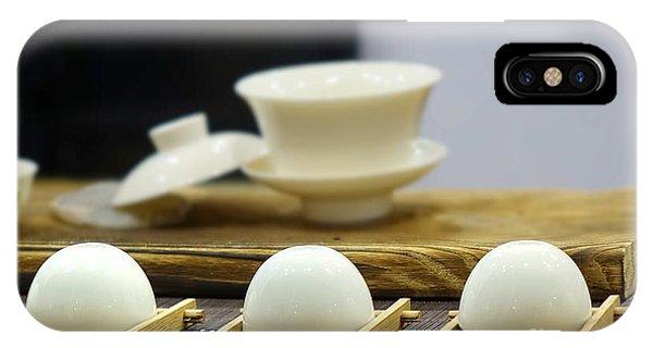 Elegant Chinese Tea Set IPhone Case
