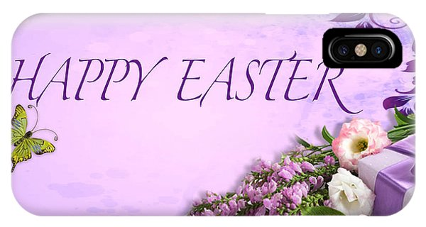 Elegant Easter Card IPhone Case