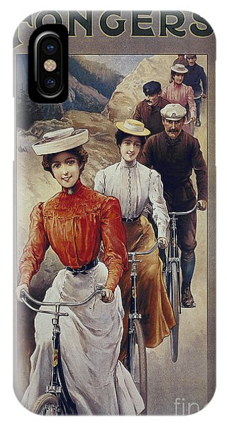 Elegant Fongers Vintage Stylish Cycle Poster IPhone Case