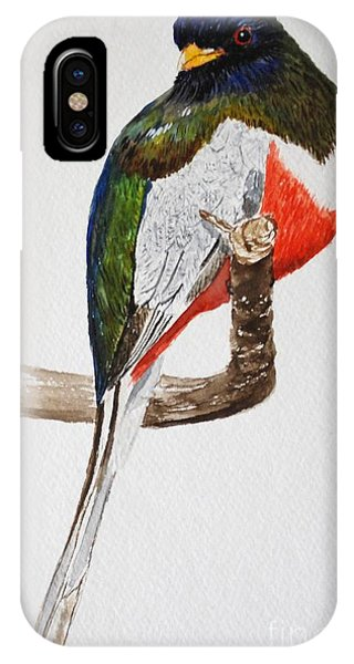 Elegant Trogon IPhone Case