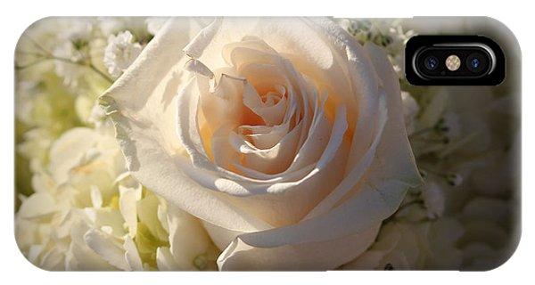 Elegant White Roses IPhone Case