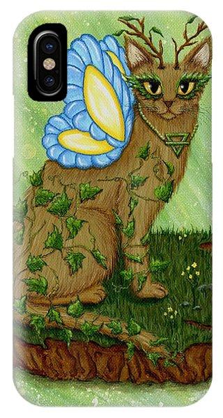 Elemental Earth Fairy Cat IPhone Case