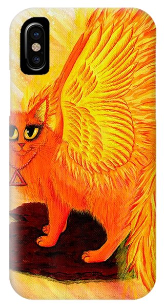Elemental Fire Fairy Cat IPhone Case