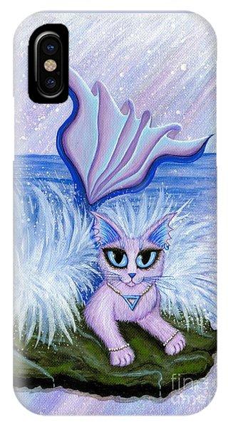 Elemental Water Mermaid Cat IPhone Case