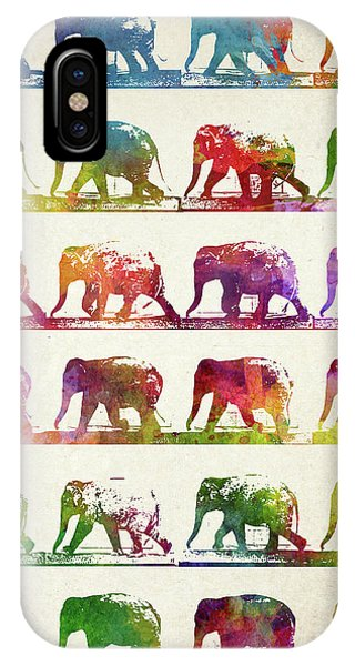 Vintage iPhone Case - Elephant Animal Locomotion  by Aged Pixel
