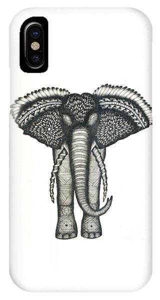 Pattern iPhone Case - Elephant Attitudes by Thomas Jones