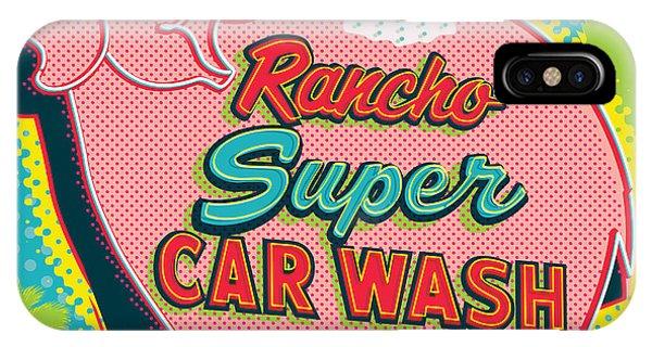Futuristic iPhone Case - Elephant Car Wash - Rancho Mirage - Palm Springs by Jim Zahniser