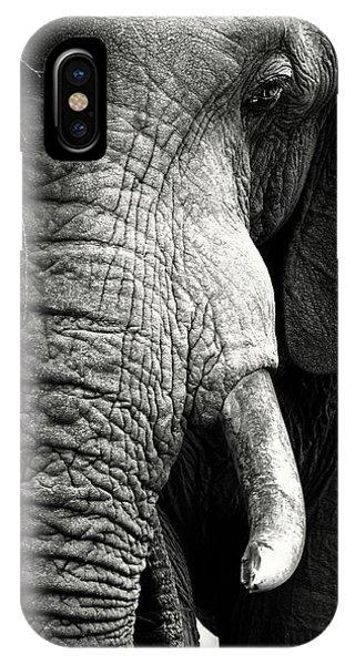 Trip iPhone Case - Elephant Close-up Portrait by Johan Swanepoel