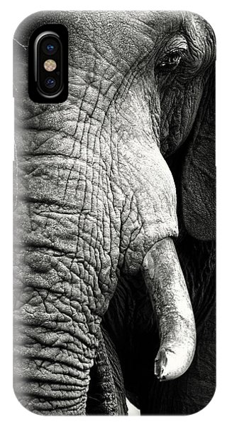 Close-up iPhone Case - Elephant Close-up Portrait by Johan Swanepoel
