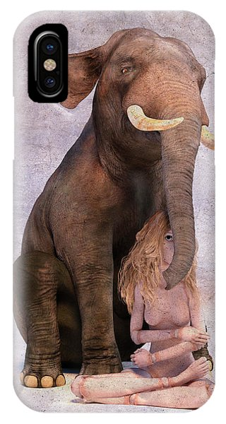 Good Humor iPhone Case - Elephant In The Room by Betsy Knapp