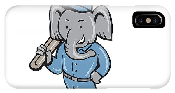 Elephant Mechanic Spanner Standing Cartoon IPhone Case