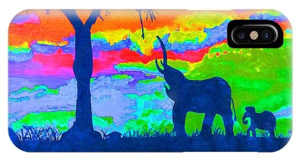 Elephant Reflections IPhone Case