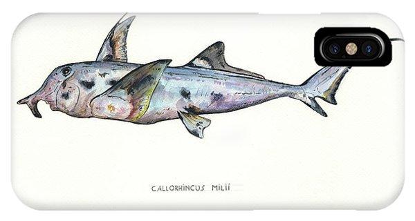 Hammerhead Shark iPhone Case - Elephant Shark by Juan Bosco