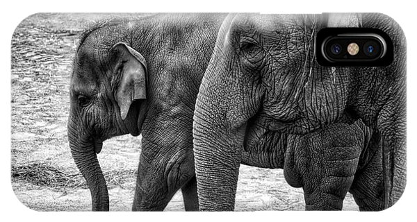 Elephants Bw IPhone Case