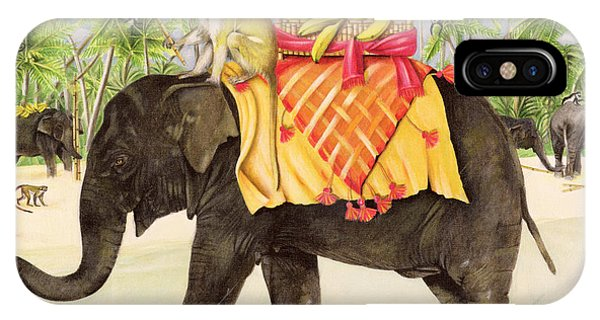Different iPhone Case - Elephants With Bananas by EB Watts