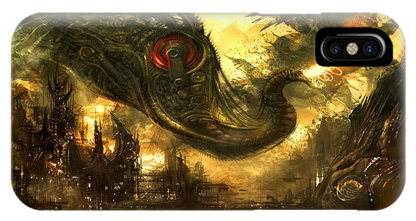 Fantasy Art iPhone Case - Elephas Maximus by Alex Ruiz