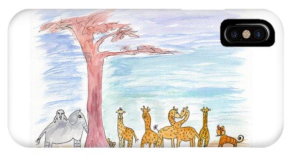 Elephoot By Baobab Tree IPhone Case