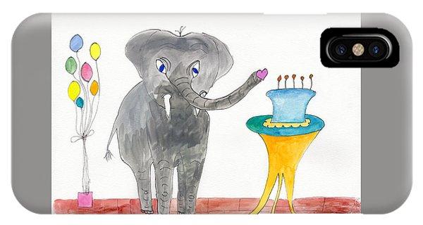Elephoot's Birthday Greeting IPhone Case