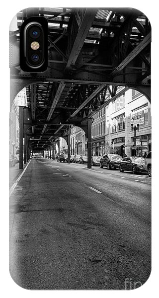 Elevated Train Track The Loop In Chicago, Il IPhone Case