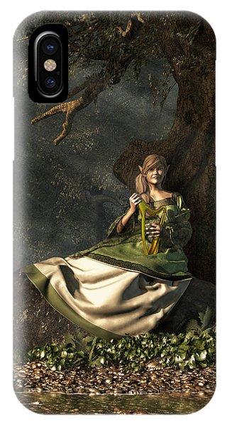 Harp iPhone Case - Elf by Daniel Eskridge